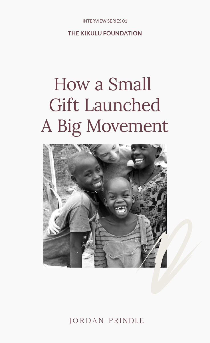 Nonprofit Interview | How a small gift helped one woman launch a nonprofit movement. Read all the details on www.jordanprindledesigns.com #smallbusiness #nonprofittips #smallbusinesstips
