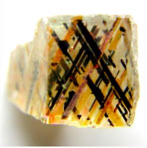 Rainbow Lattice Magnetite Laths in Moonstone