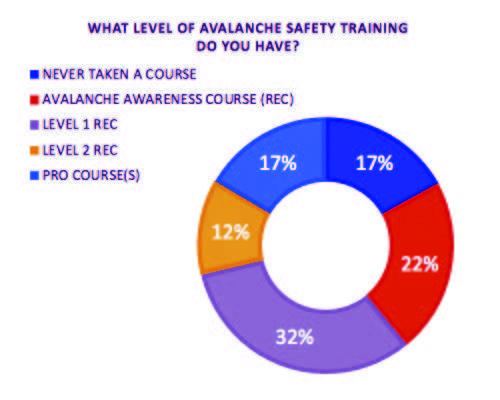 Level of avalanche training among survey participants.