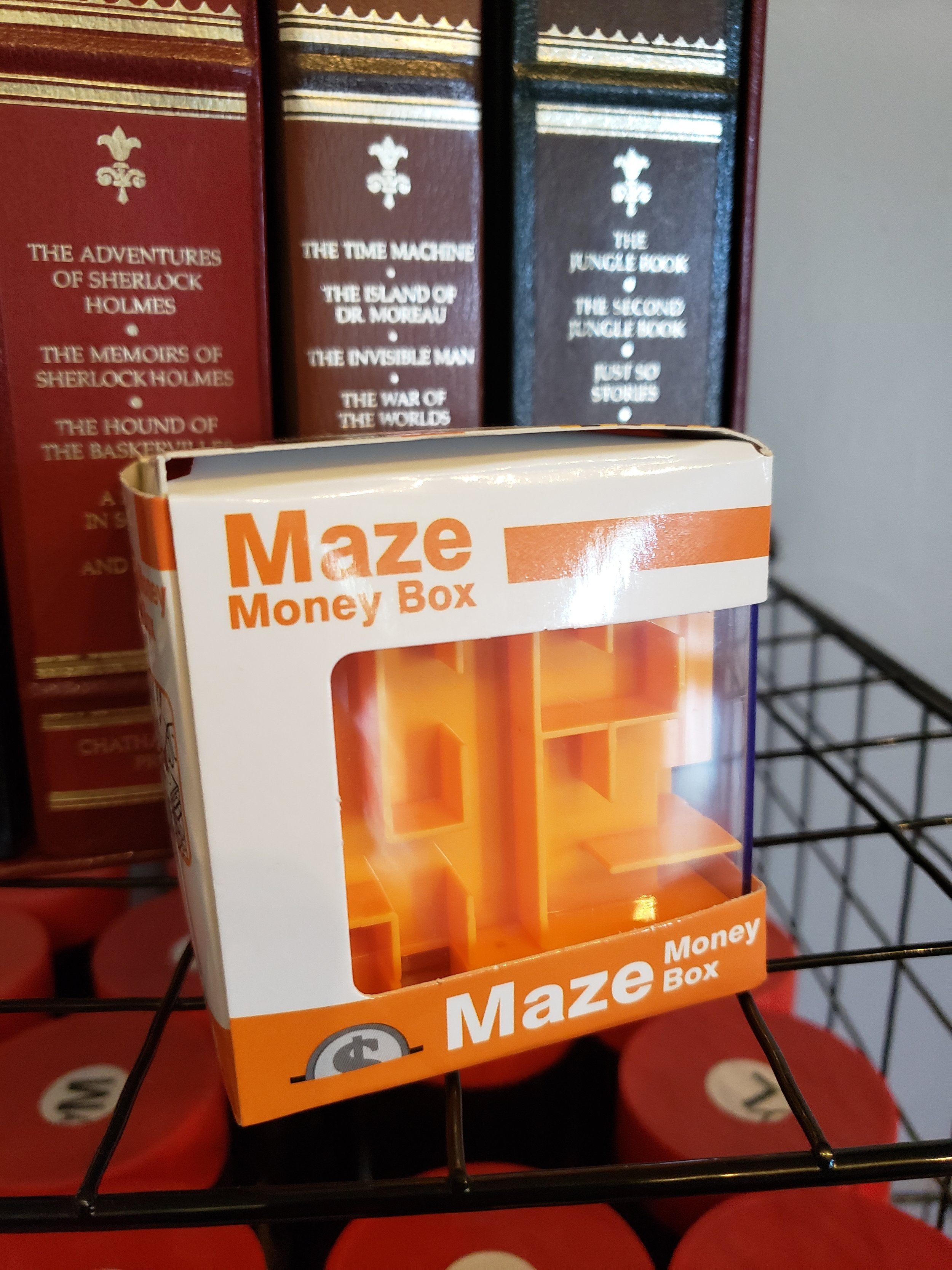 Love to see your friends struggle? How bout the kids? Well this is the maze for you! Throw $5 inside and watch the joy as they have to solve a puzzle to get it out. $10