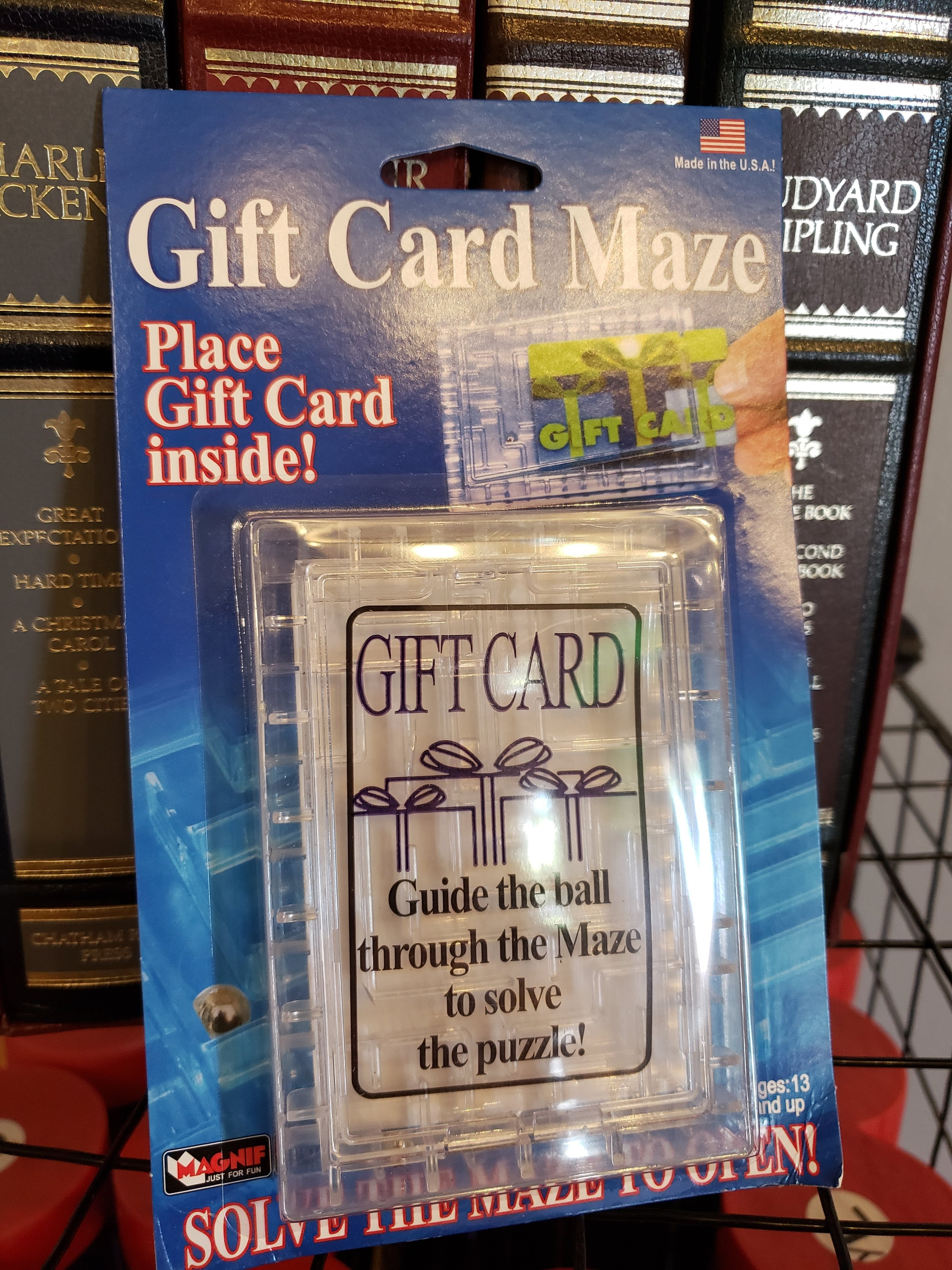 Our hot seller this time of the year is our Gift Card maze. Purchase an Escape Sacramento gift card and throw it inside one of these babies and watch your loved one try and get it out! $7