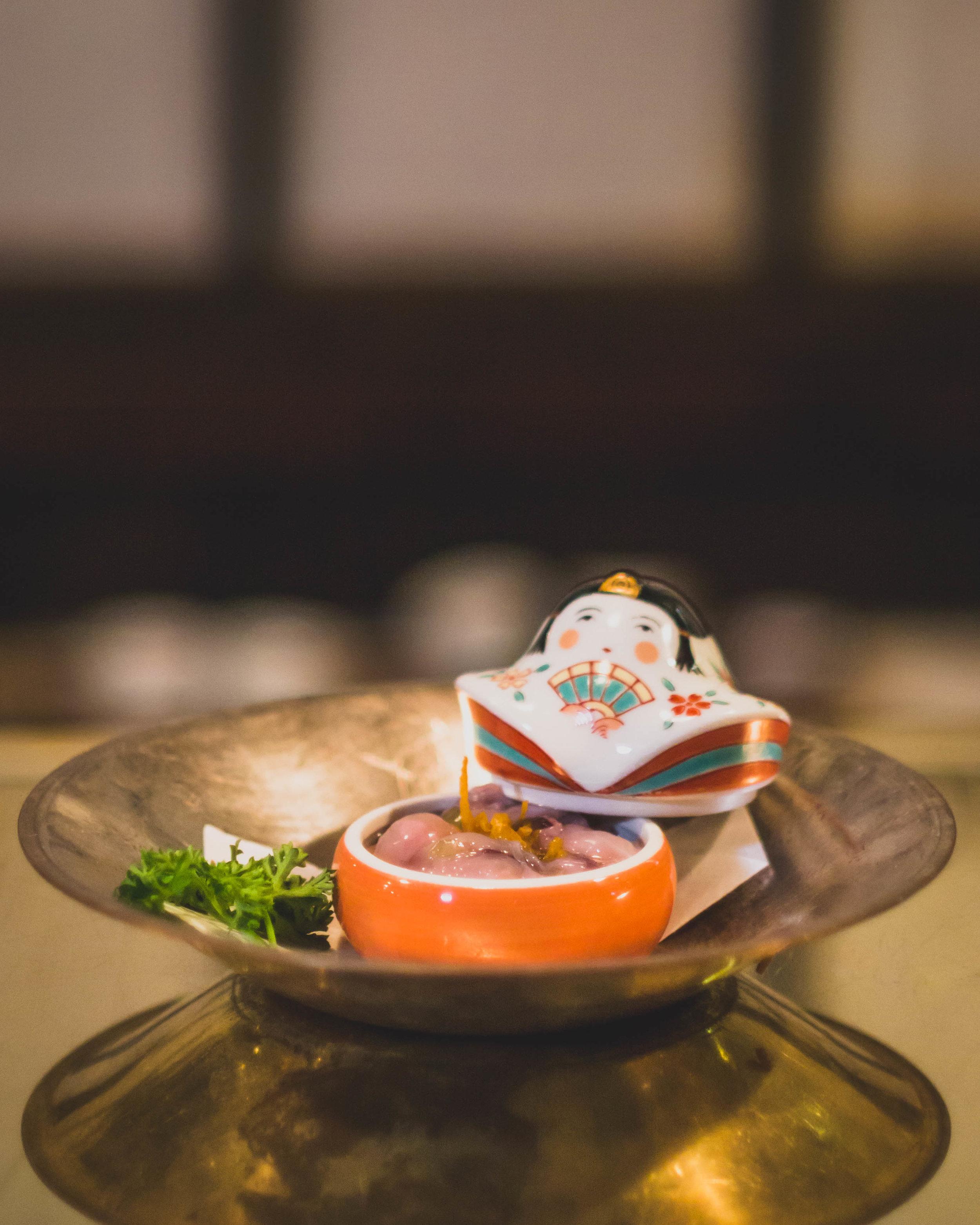 TAKOWASA* - Chopped raw octopus w/ Wasabi sauce