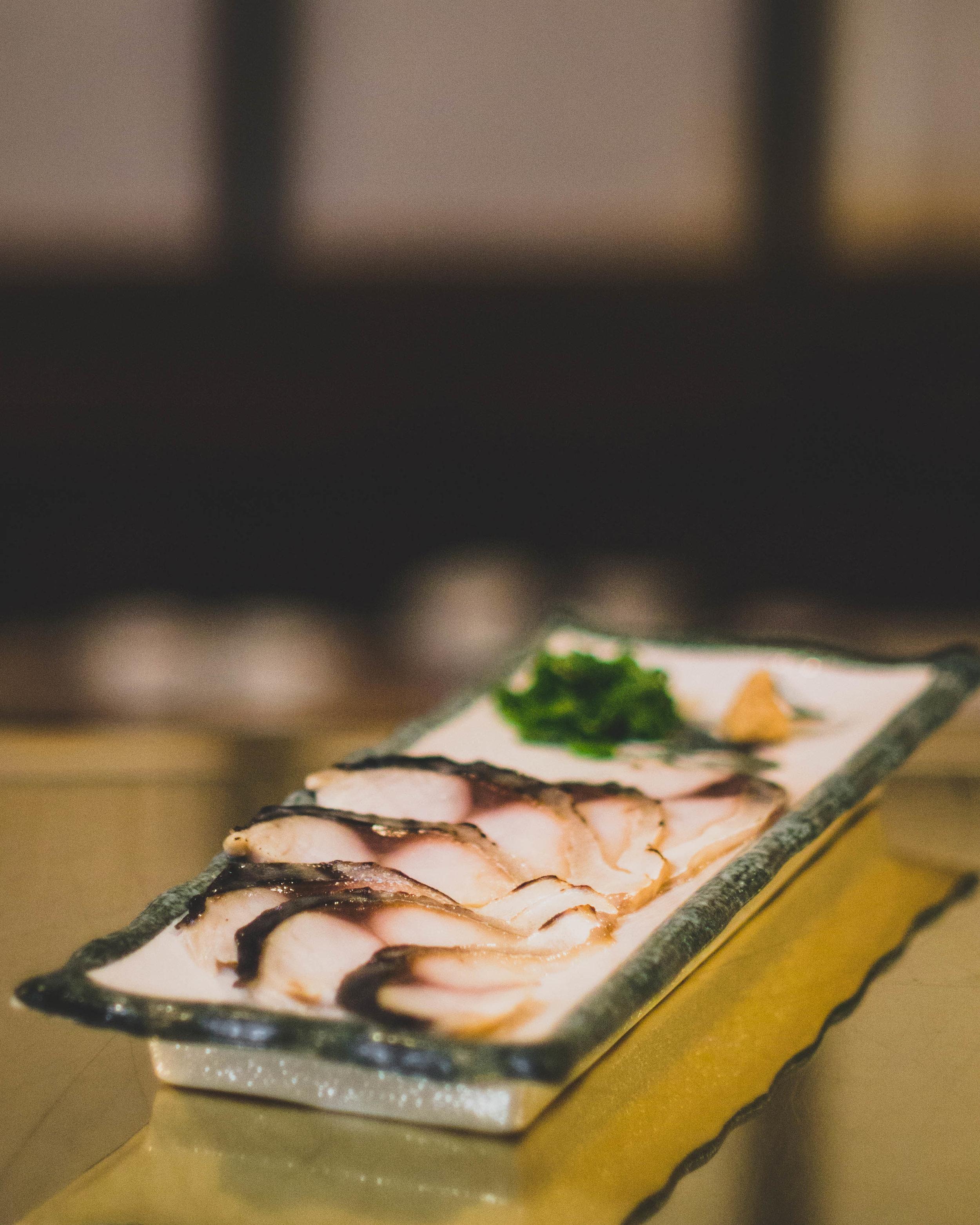 SEARED MACKEREL* - Vinegar cured mackerel