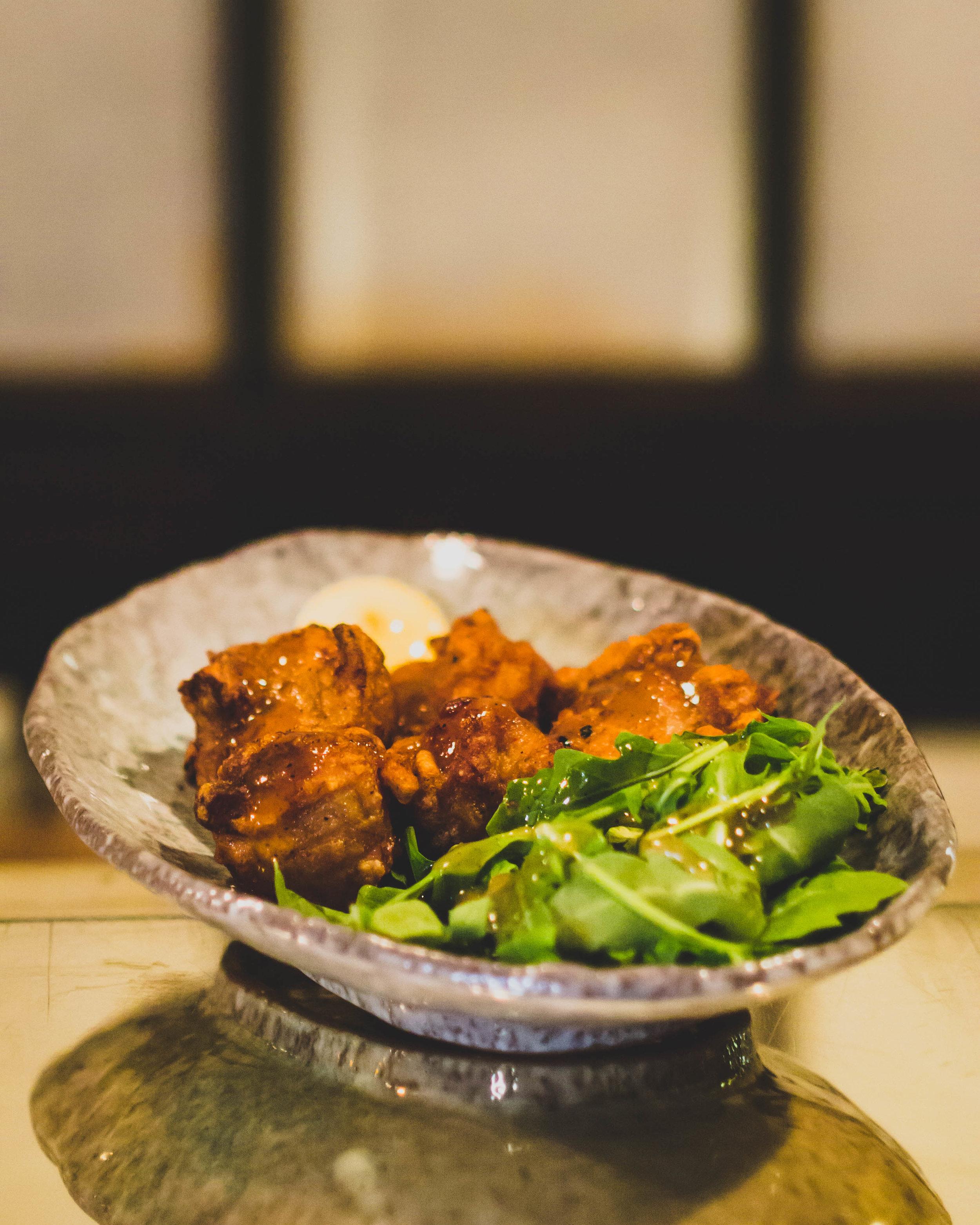 KARAAGE - Fried chicken w/ Yuzu garlic salt sauce