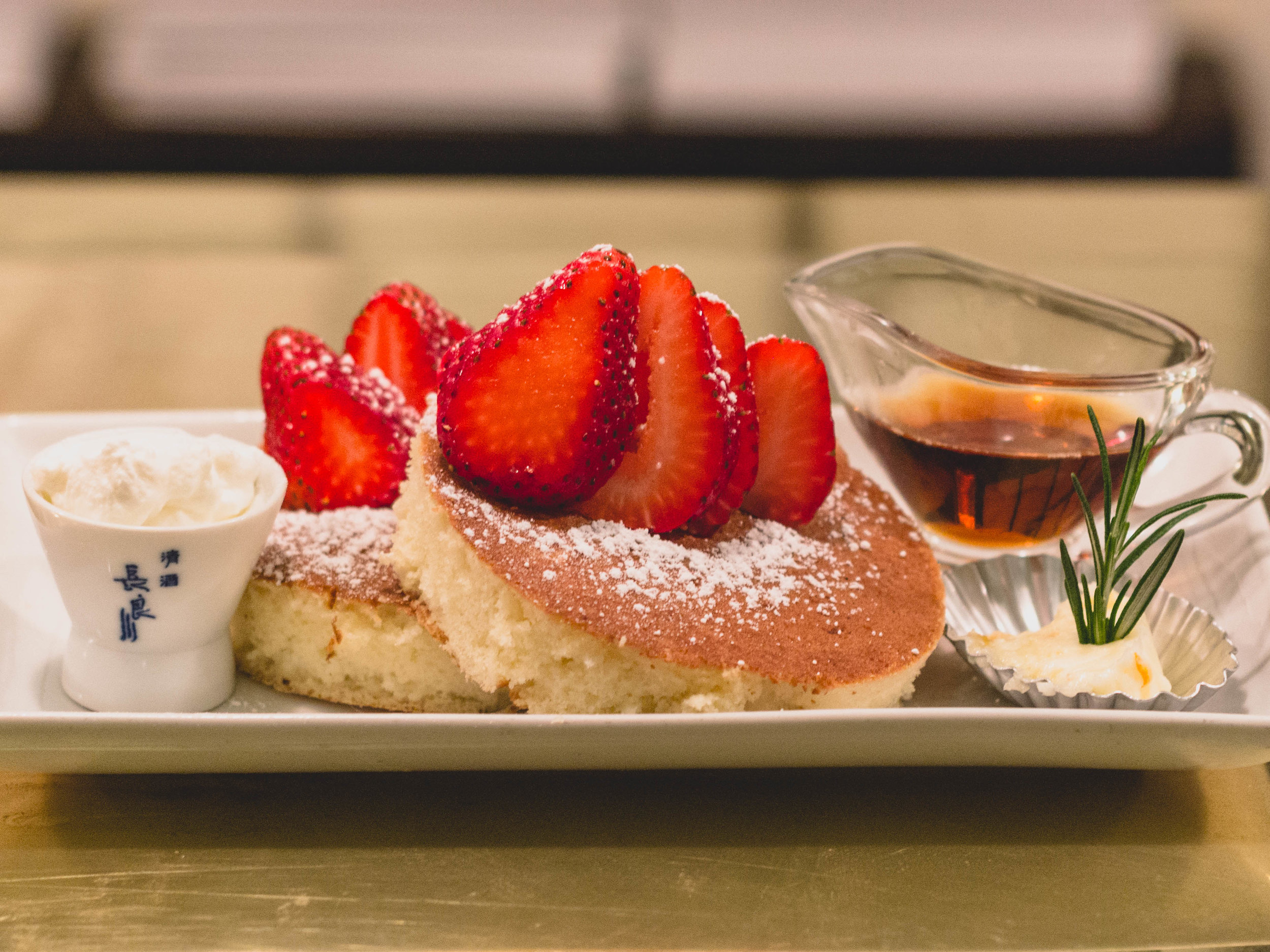 Strawberry Hot cakes