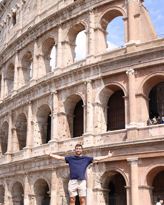 "Last week our guy @hudbuckets went to Rome, Italy to study our company namesake - Gaius Marius, ""The Third Founder of Rome"". • • He returned to LA a history geek 🤓 (or as he says, ""Gladiator"")...so don't ask him to give you the backstory unless you have time to kill 🤣"