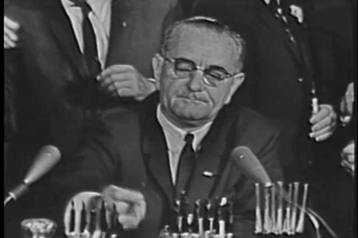 Historical footage: LBJ signs Civil Rights Act        $45