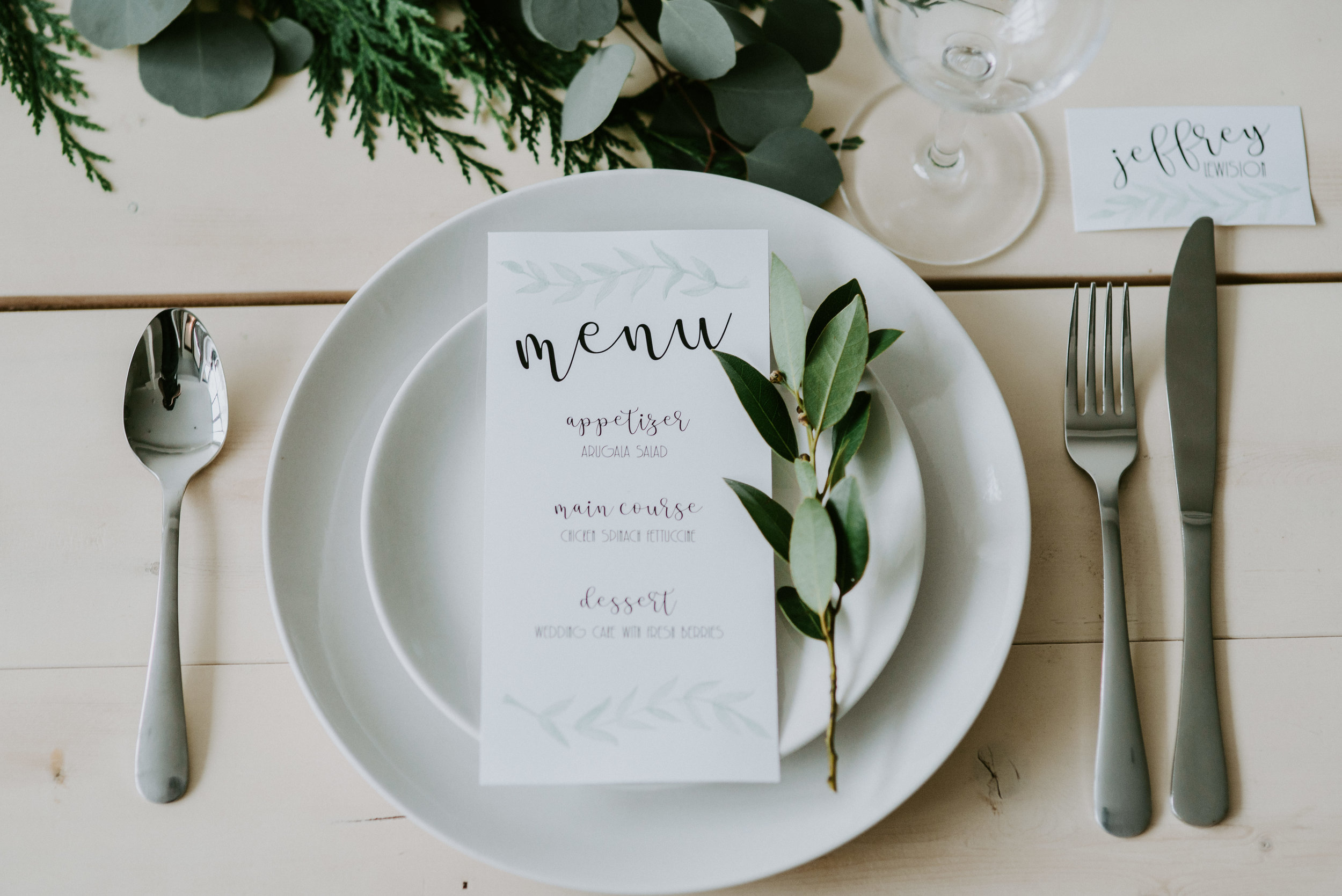 Gorgeous Winter Wedding Placesetting