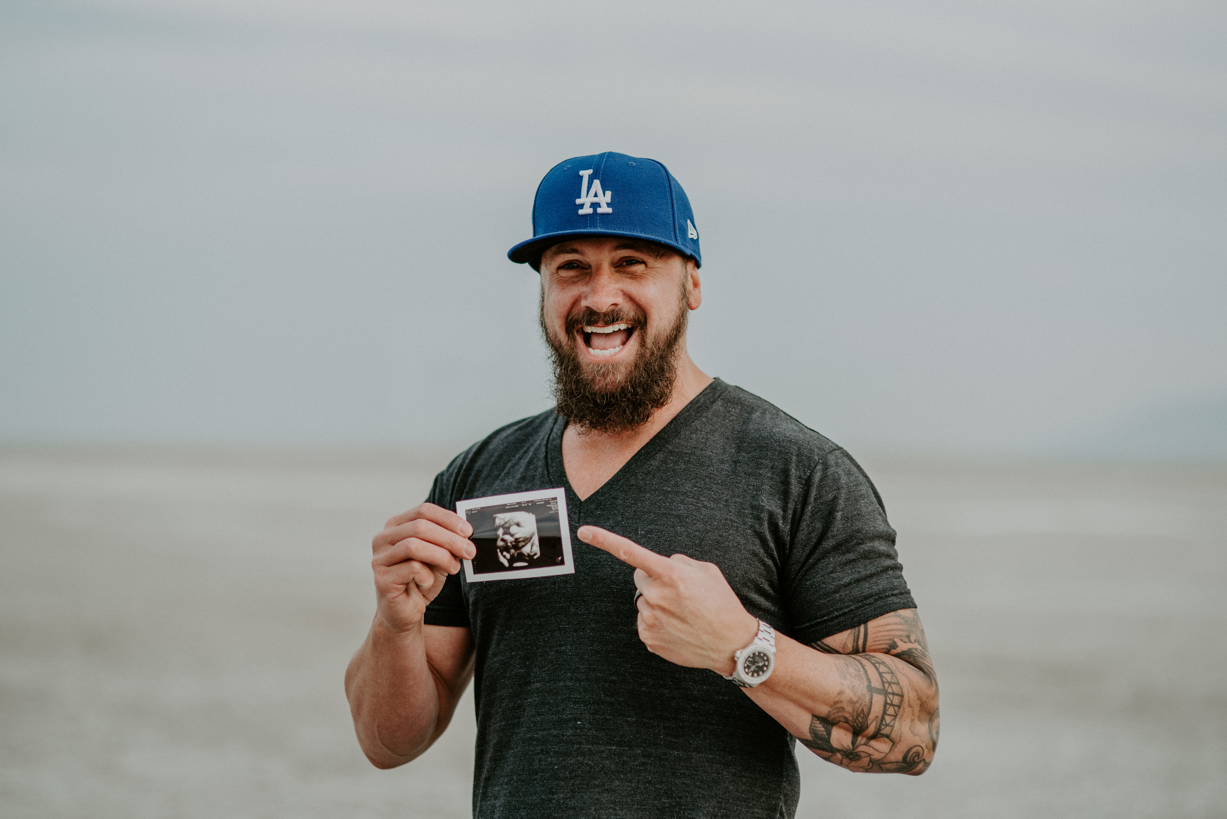 Fun Dad Maternity Shoot