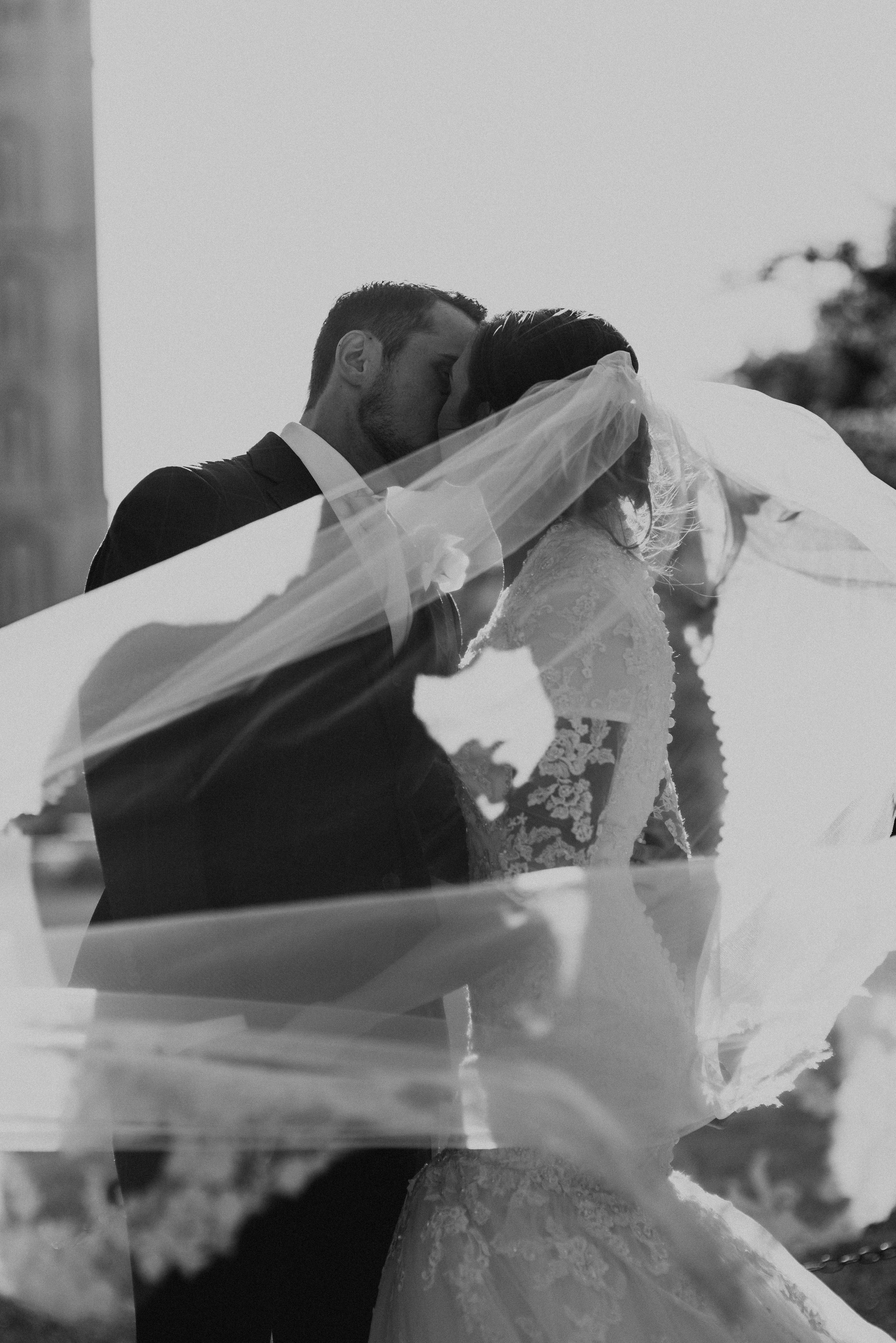 Black and White Veil Photo