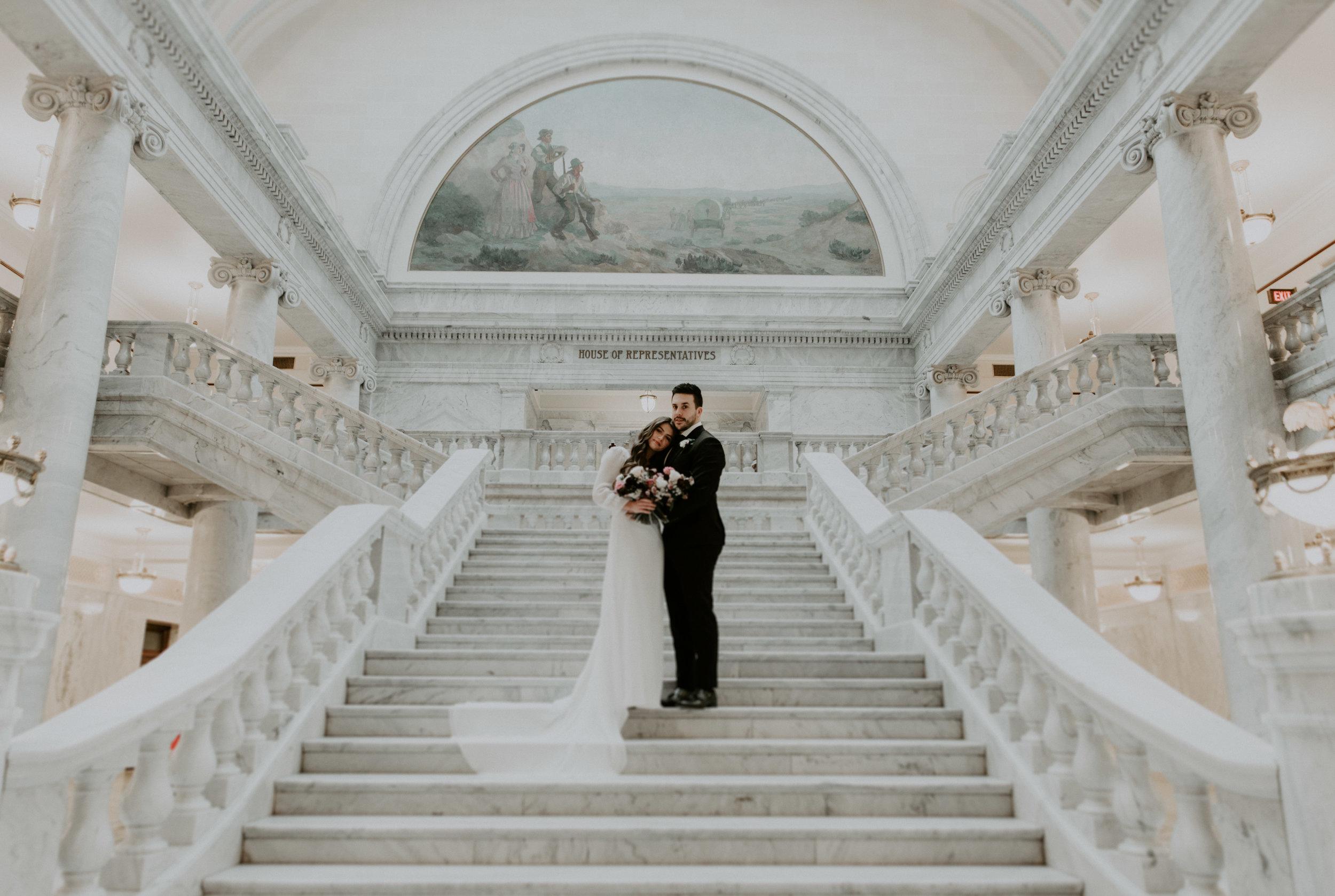 KaciBaumPhotography_MWBridals_UtahCapitolBuilding