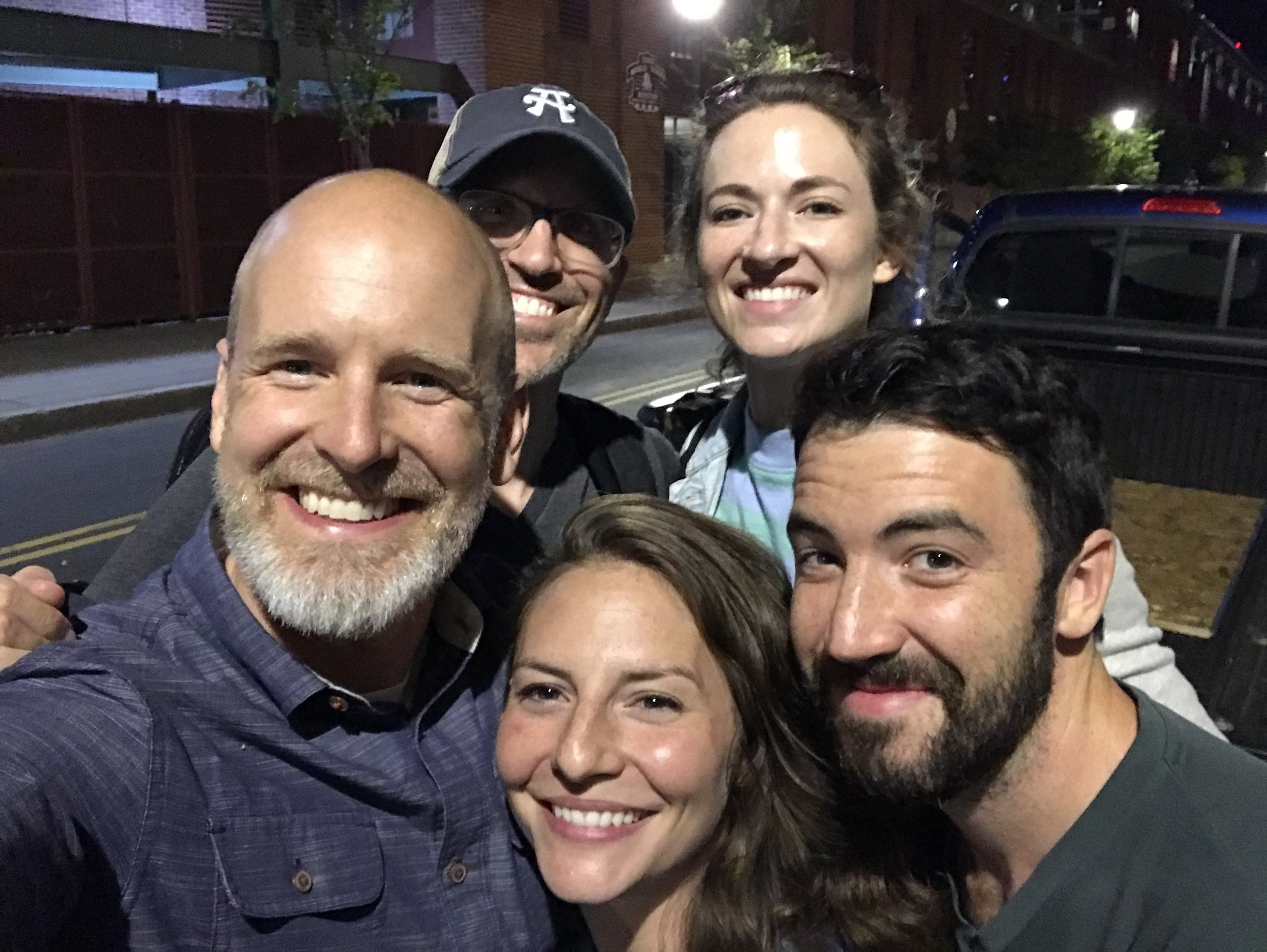 The late crew - Dylan, Carrie, Antigoni and Fritz who worked late into the night to make the shot happen. Not included but hugely important was Mike Ivins and Matt Thomas from the Red Sox and our project manager Chris.