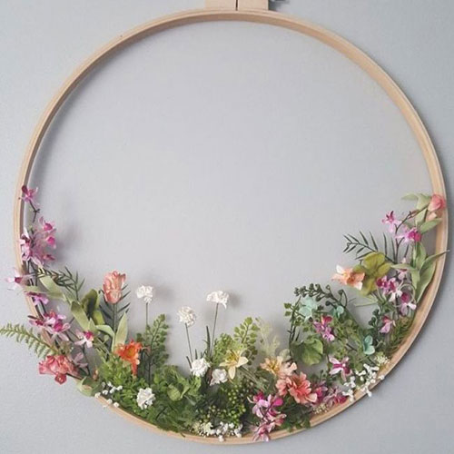Extra Large Embroidery Hoop inspiration from  Tricks of Beauty