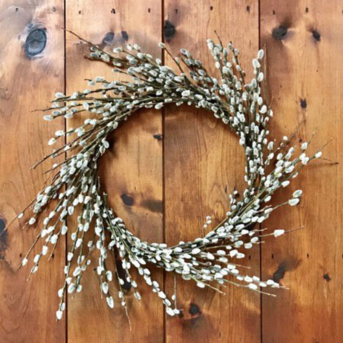 Pussy Willow Wreath tutorial from  One Hundred Dollars A Month