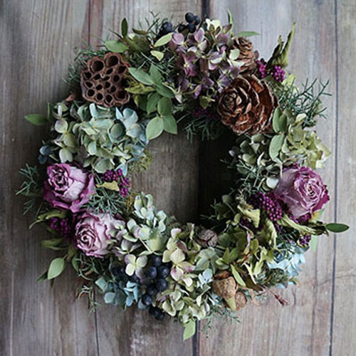 Dried Flower Wreath inspiration source  here . No tutorial.