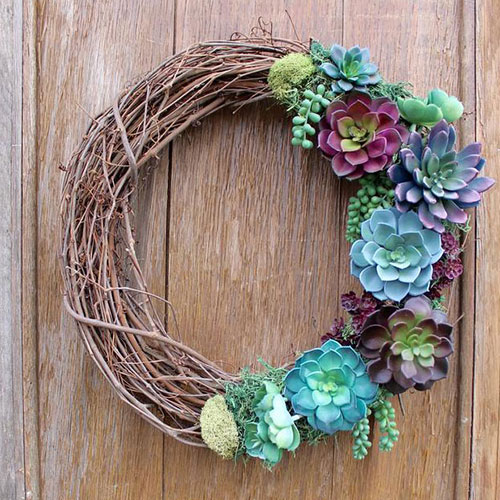 Succulent Wreath Inspiration from Heart of Home Design available for sale  here  on Etsy