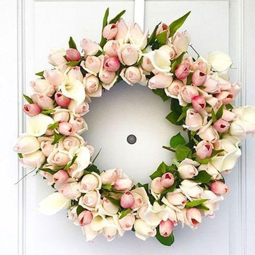 Tulip Wreath inspiration from  Happy Wedd