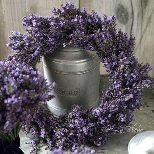 Lavender Wreath inspiration from  Happy Wedd