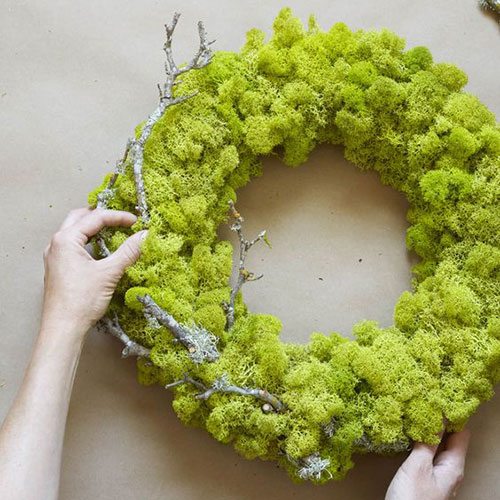 Moss Wreath tutorial from  Apartment Therapy