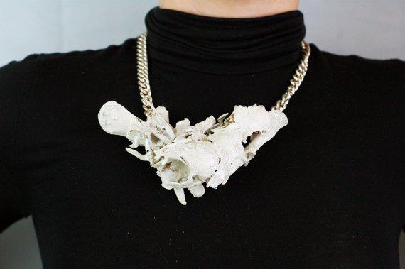 Pearl Shimmer Bone Decoupage Statement Necklace.jpg