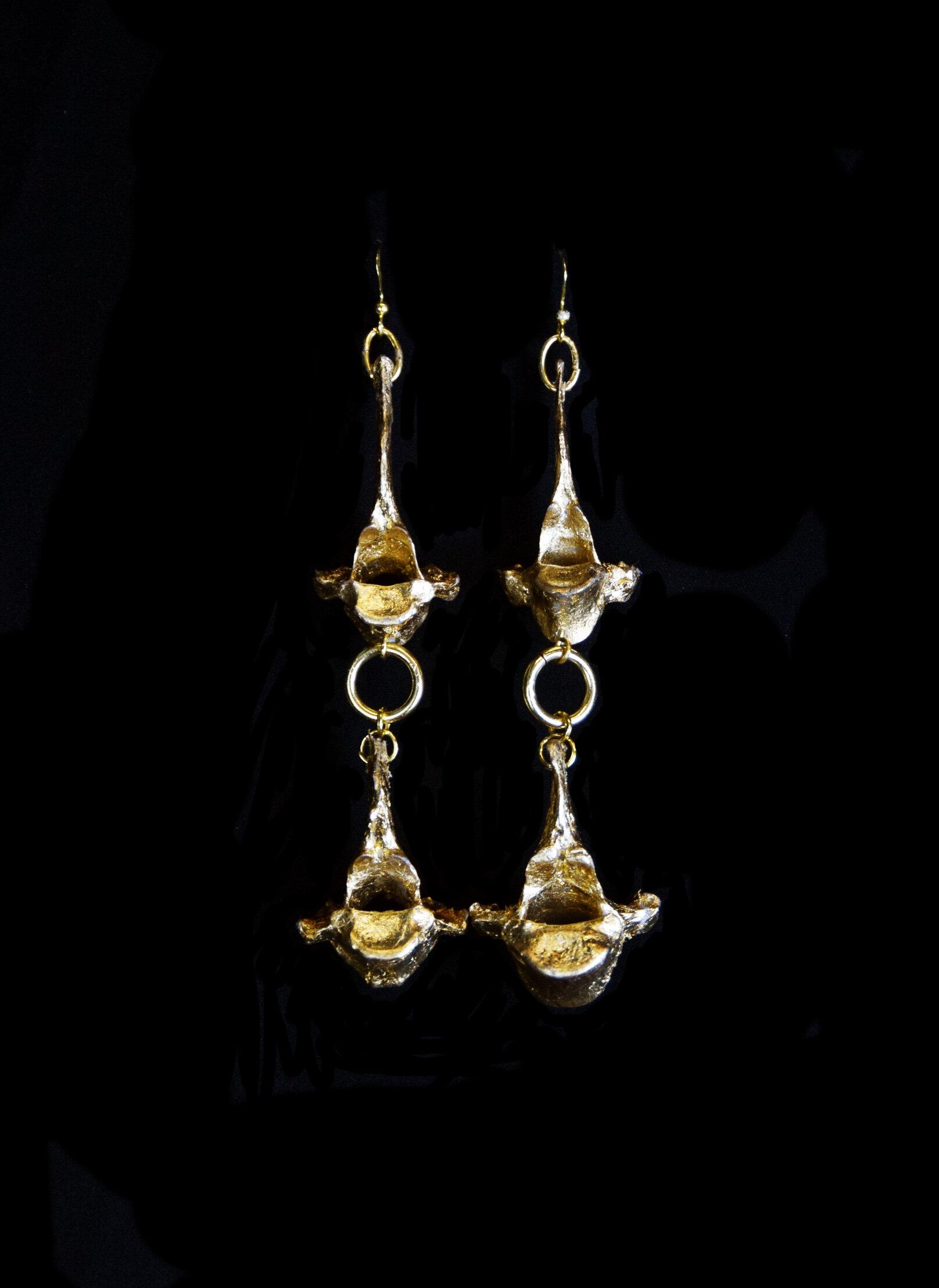 Vertebrae Earrings