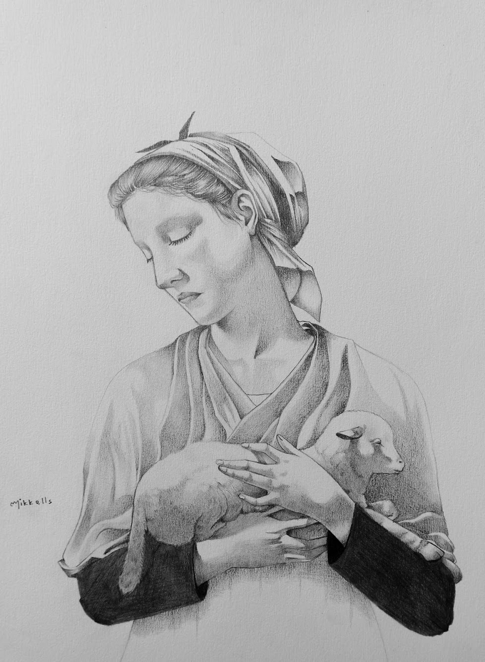 William Bouguereau Shepherd Pencil Artwork