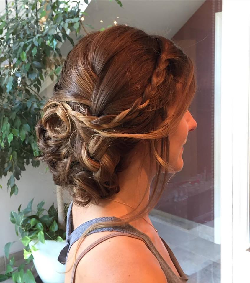 Pre Bridal Trial Updo with Braids