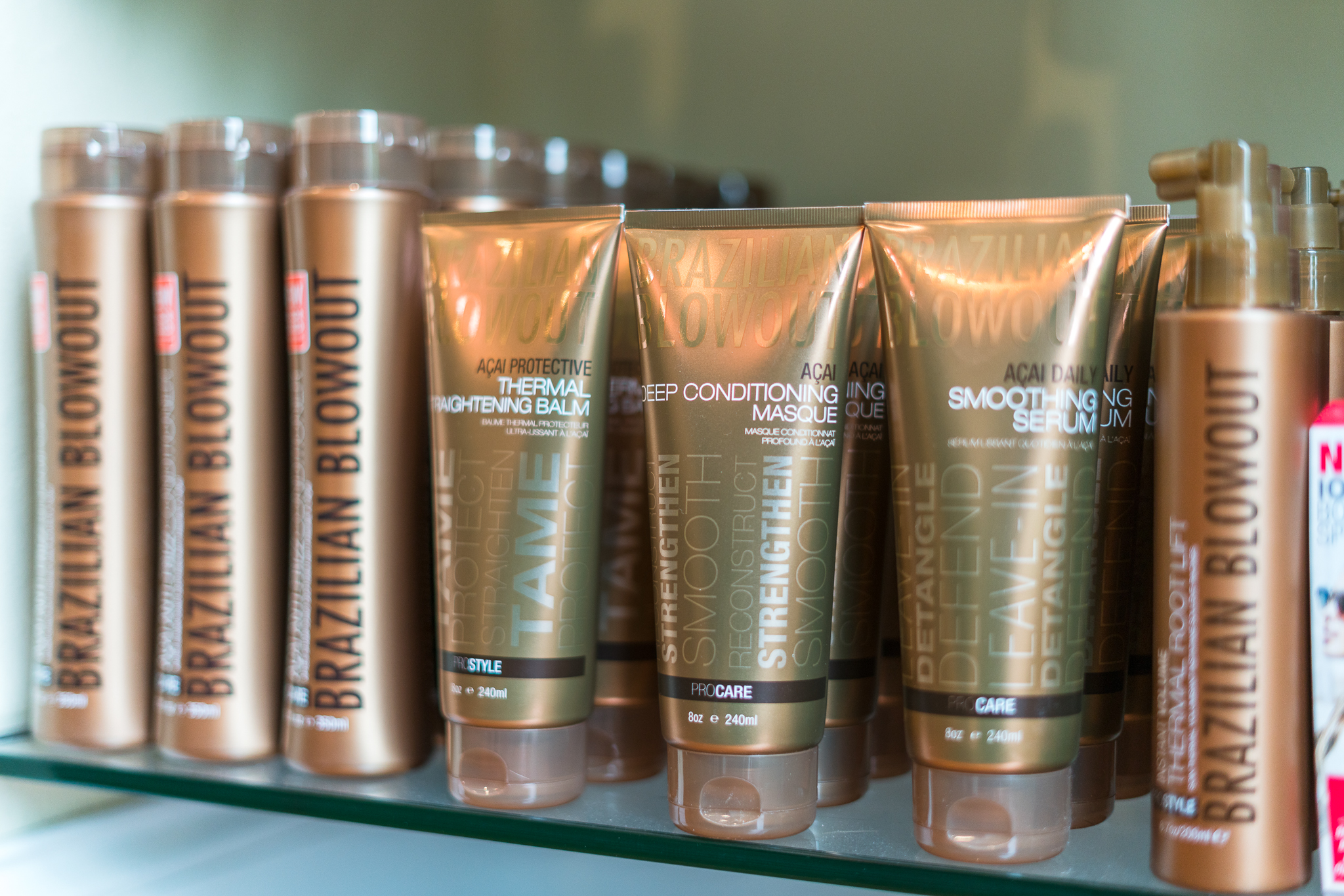 Brazilian Blowout - Brazilian Blowout products increase the longevity of your Brazilian Blowout smoothing system. These products enhance the effects of your in-salon treatment! Even if you haven't had a Brazilian Blowout treatment these products can help tame your frizz and allow for easier styling.