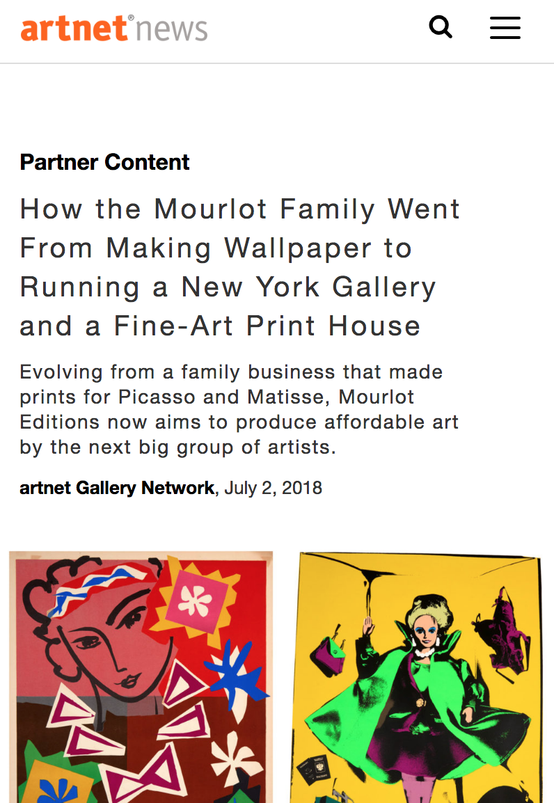 - How the Mourlot Family Went From Making Wallpaper to Running a New York Gallery and a Fine-Art Print House