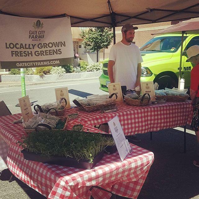 First Farmers Market!! #nashufarmersmarket #microgreens #localfarmers