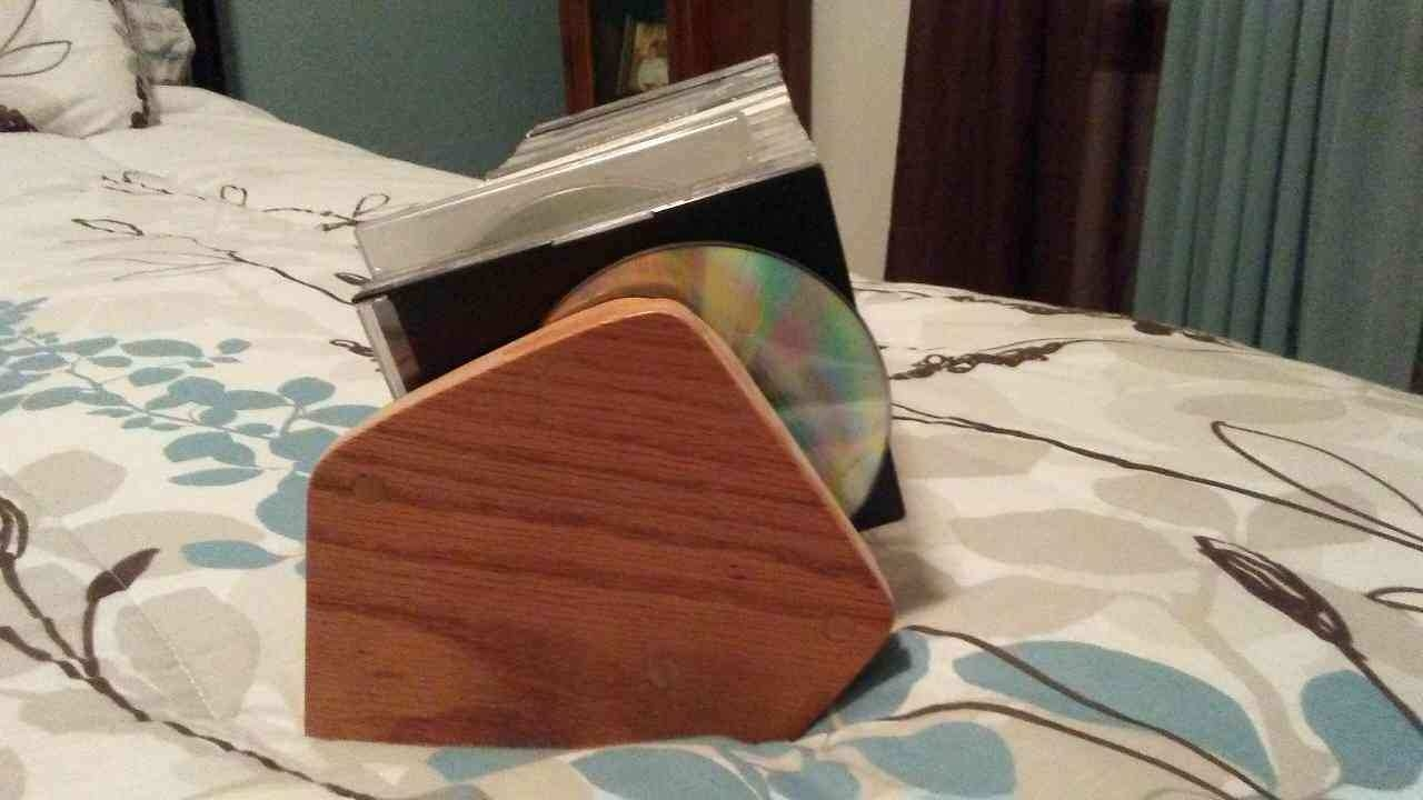 CD holder...I bet there's some gems in that stack of CD's.