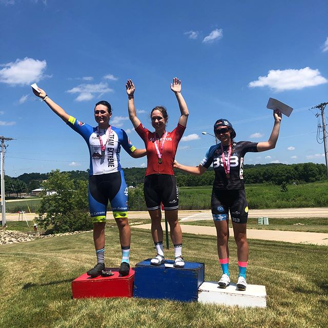 Yess Becca!!!! Looking good on the top step today at the WI State Road Race!! 🏆 🔥🙌🏻!!!