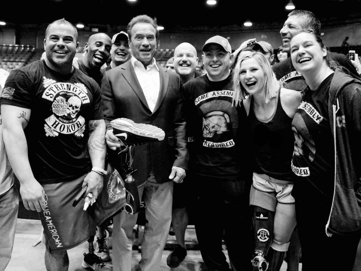 Team SAR with Arnold Schwarzenegger, 2015