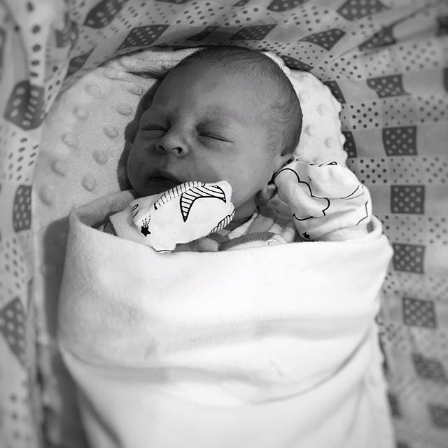 Now that we've had a bit of time to get used to the fact that we have a little person in the house, Ty and I would like to introduce Fischer Robert Vanderwoude! He was born February 28 at 7:49 weighing 8.1 lbs. We may be a little biased, but we think he's quite the cutie and are so smitten with him!