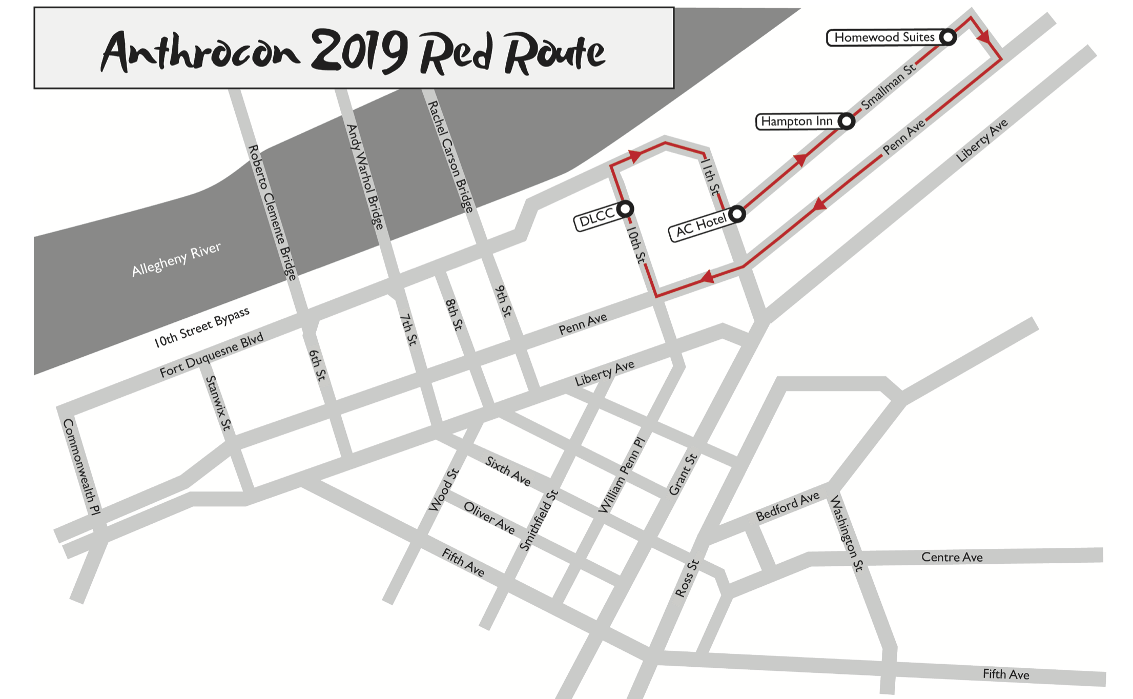 Red Route Map