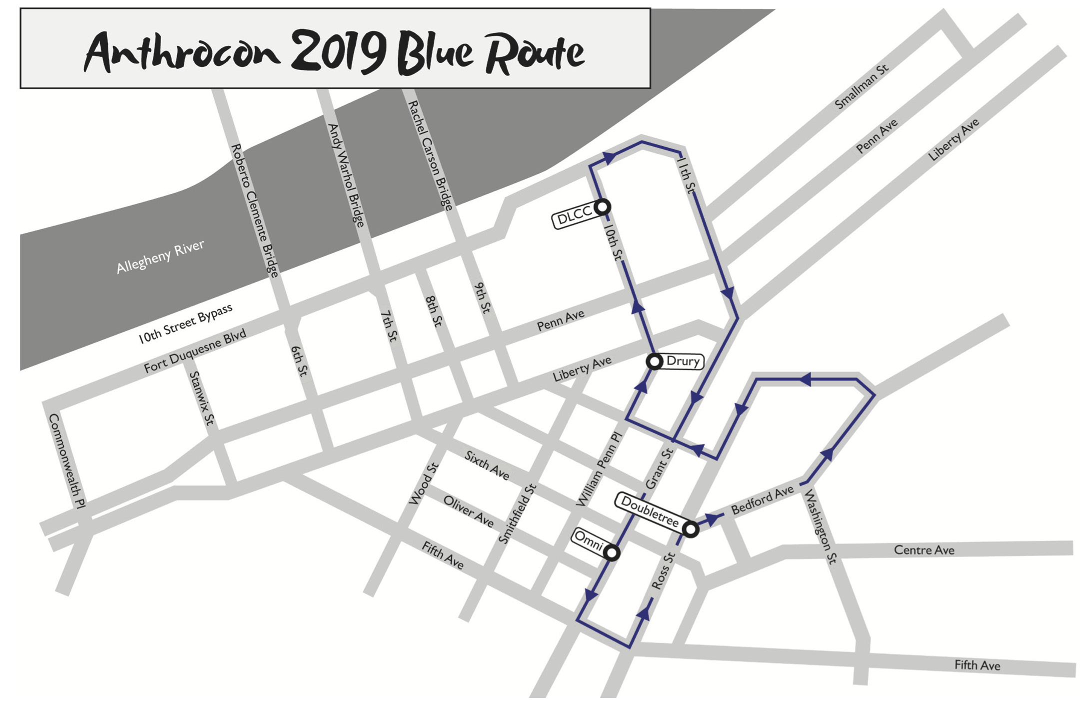 Blue Route Map
