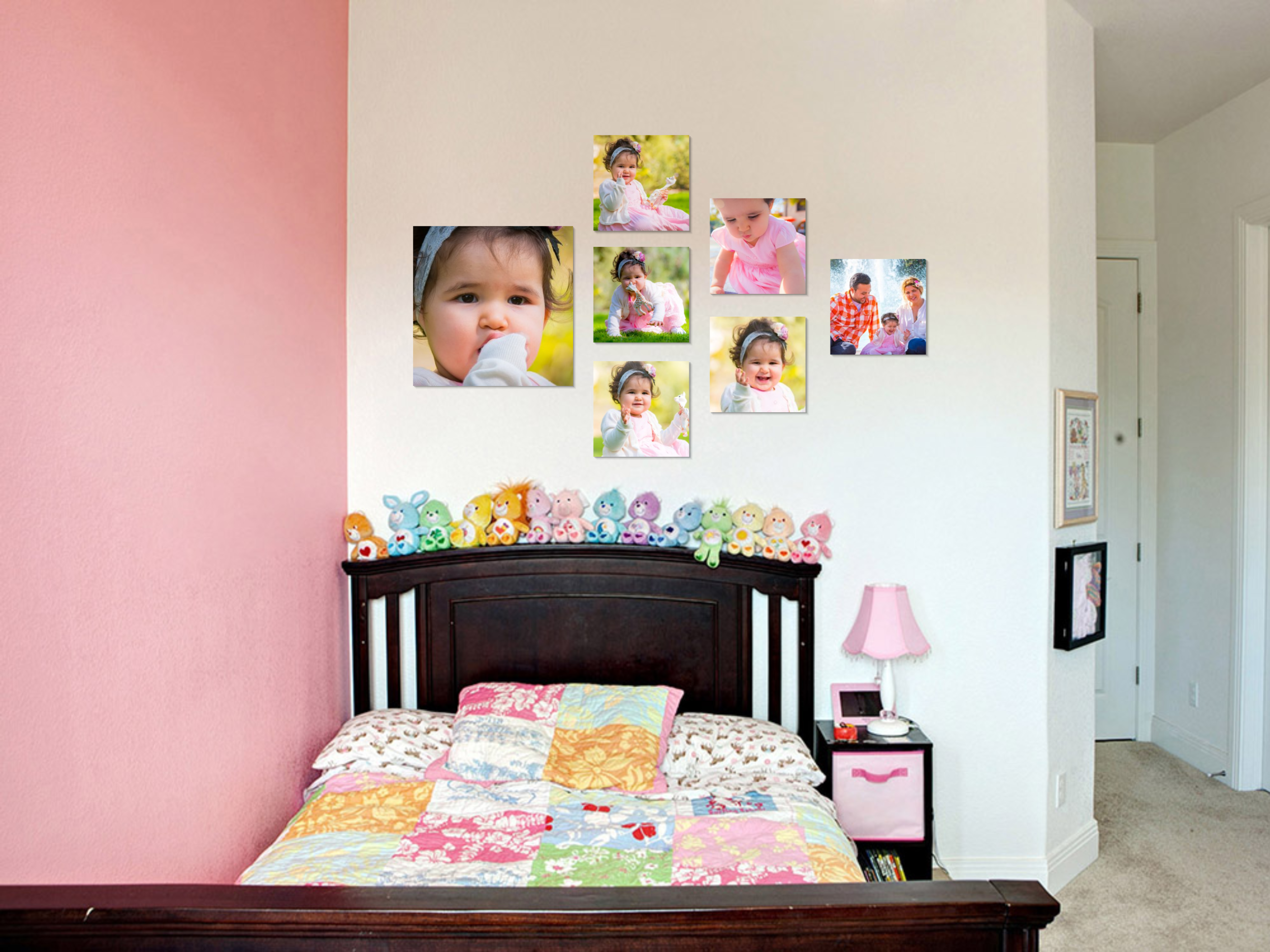 """It is proven that portraits in your child's bedroom says """"We love you! We care about you! You matter to us!"""""""