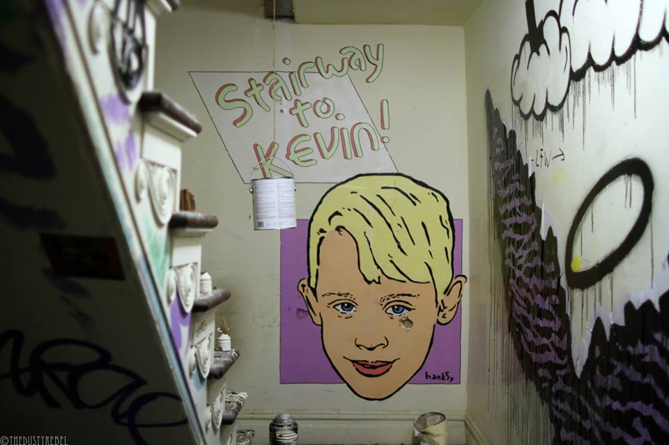 Stairway to Kevin, Hanksy, Surplus Candy NY, 2015