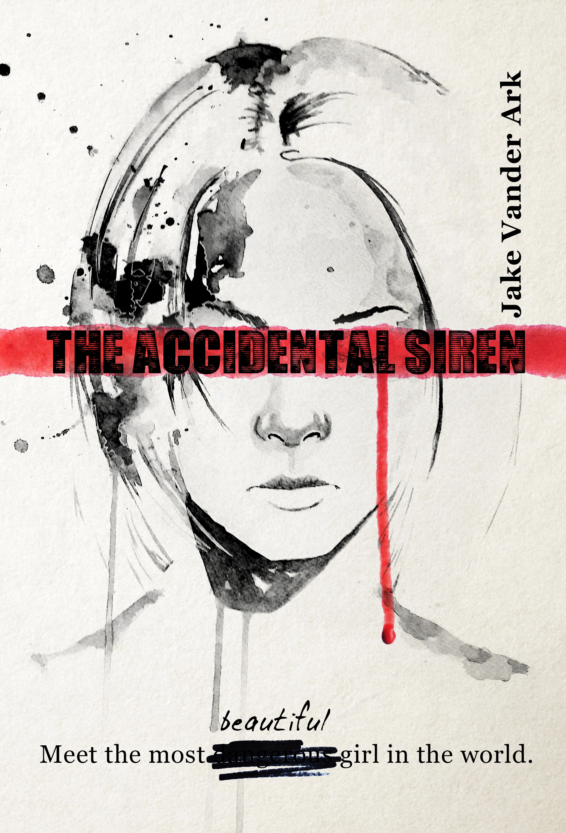 The Accidental Siren Cover (Third Edition Paperback Cover) B&W.jpg