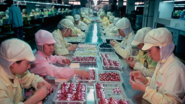 Chinese Doll Factory - Just as the election is called for Donald Trump, Maisey's mother falls off the couch, curls into a fetal position, and sobs uncontrollably.At the exact same moment, a pregnant woman in a Chinese factory feels her baby trashing suddenly inside her... as if it's trying desperately to get out.