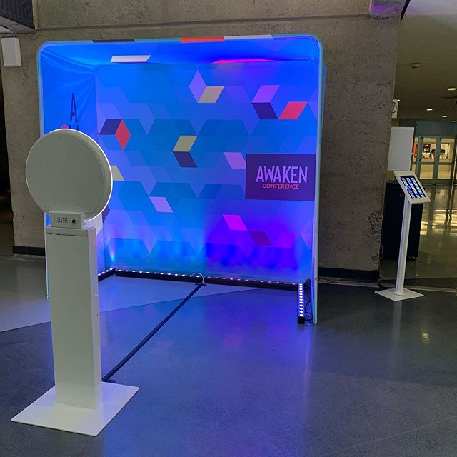 3 DAY @awaken_live conference thank you for being so awesome 😎! We enjoyed everything. Check out the 3D backdrop! #thesocialproduction #fortworth #dallas #conventioncenter
