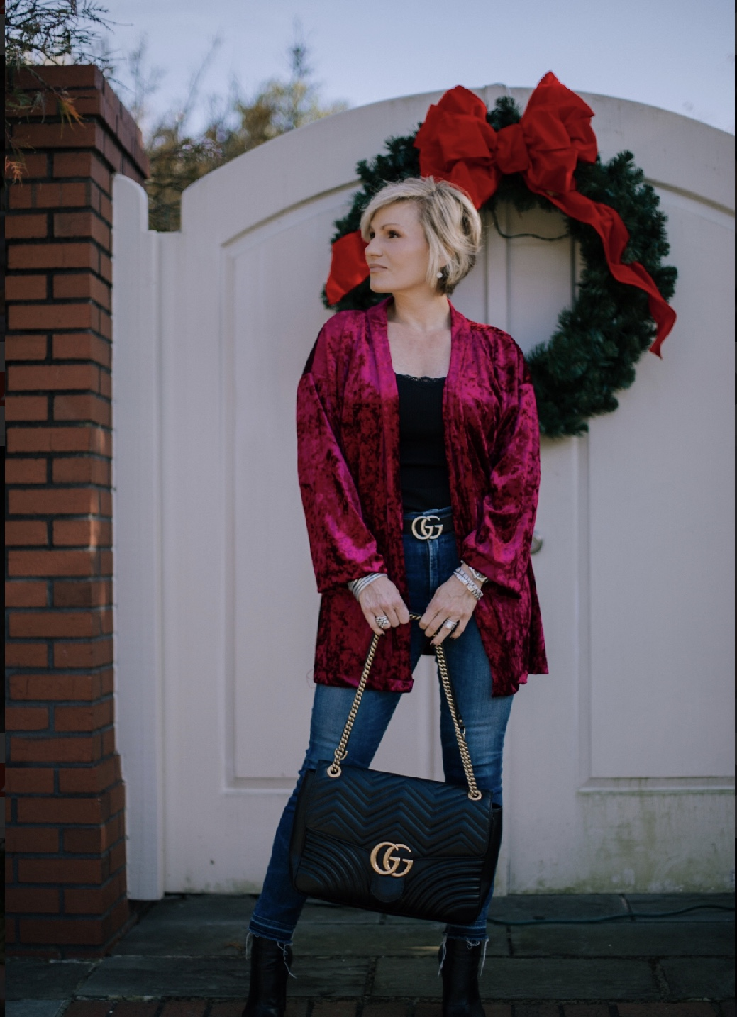 Throw on a simple kimono to transform your everyday jeans into a holiday look perfect for shopping with the girls or a Christmas brunch. Shop my velvet kimono picks here:  http://liketk.it/2ytC9
