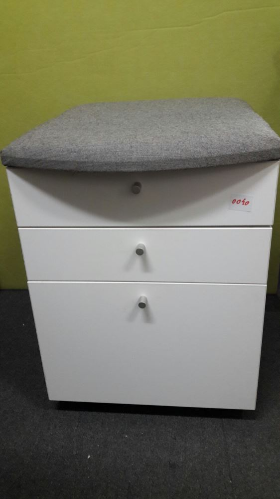 Cushion Seat Mobile Drawer Unit