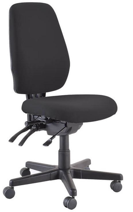 Buro 3 Lever High Back Black Chair
