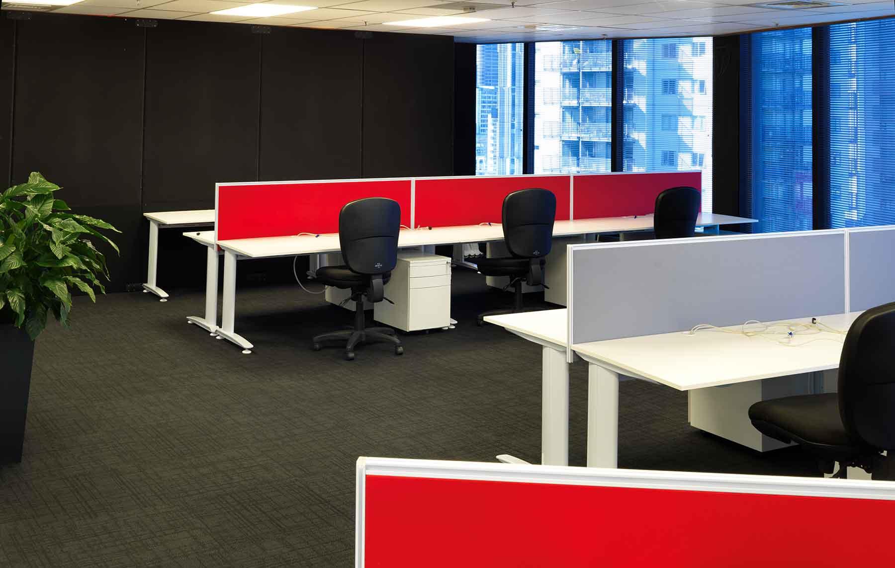 White Straight Desks