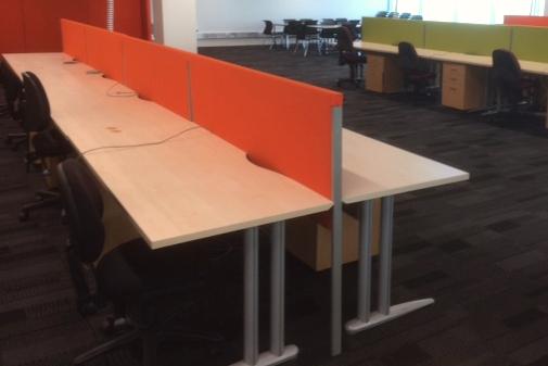 Woodgrain Straight Desk