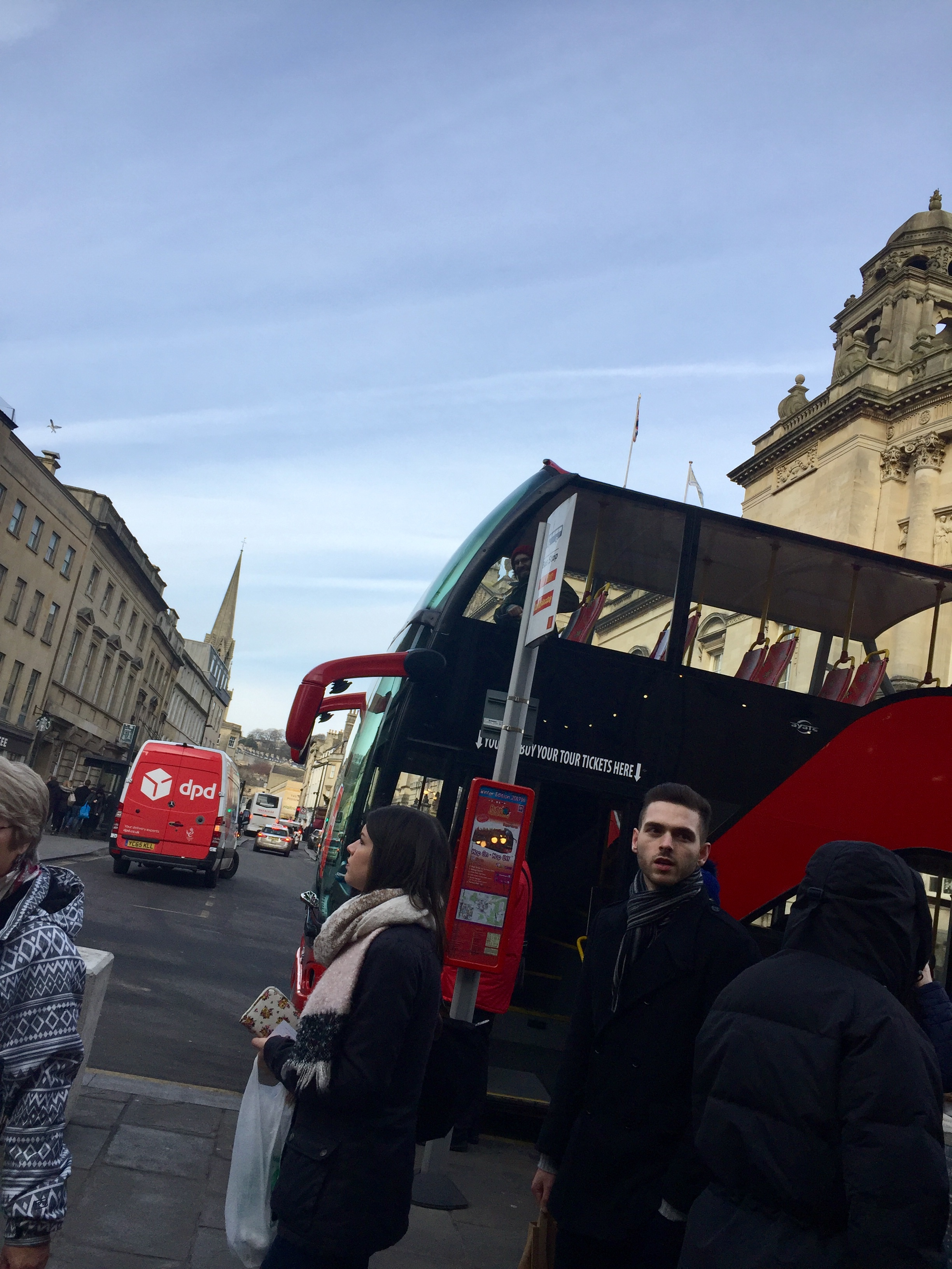 Here's a picture of the bus, if you look closely you can see Luc in the window!