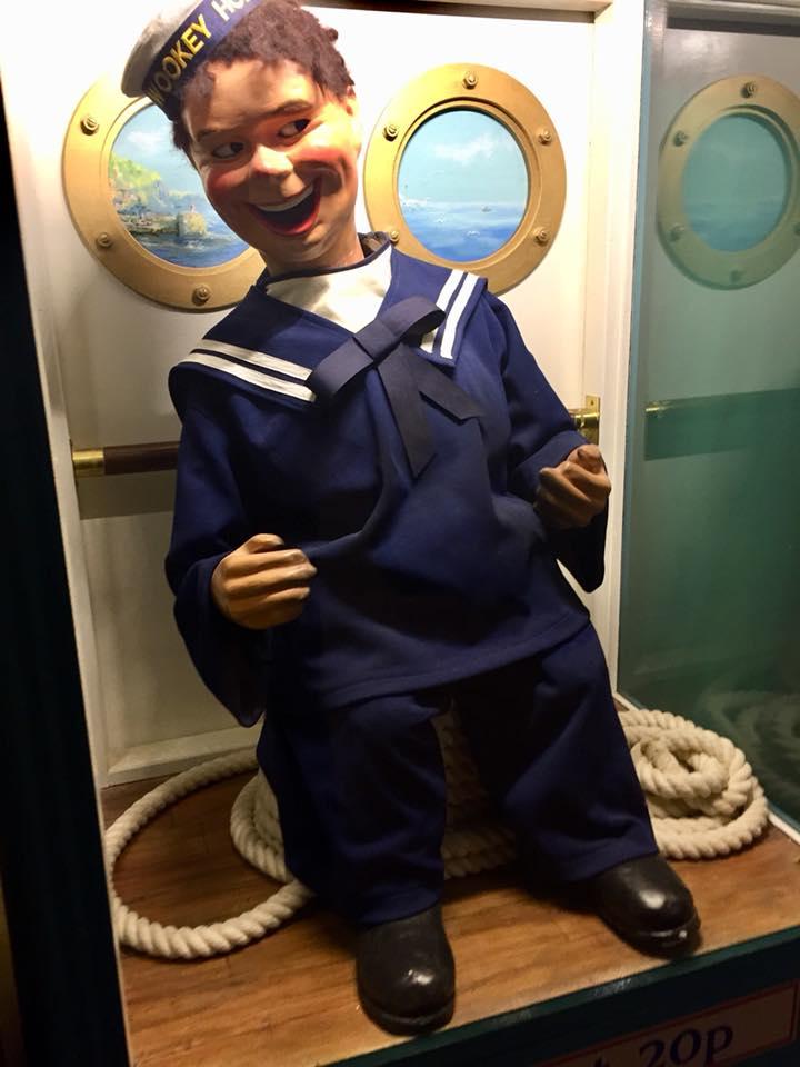 Laughing sailor at Wookey Hole arcade