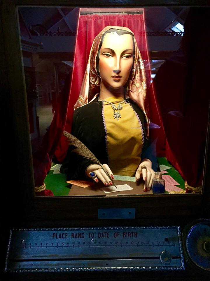 Fortune teller at Wookey Hole arcade