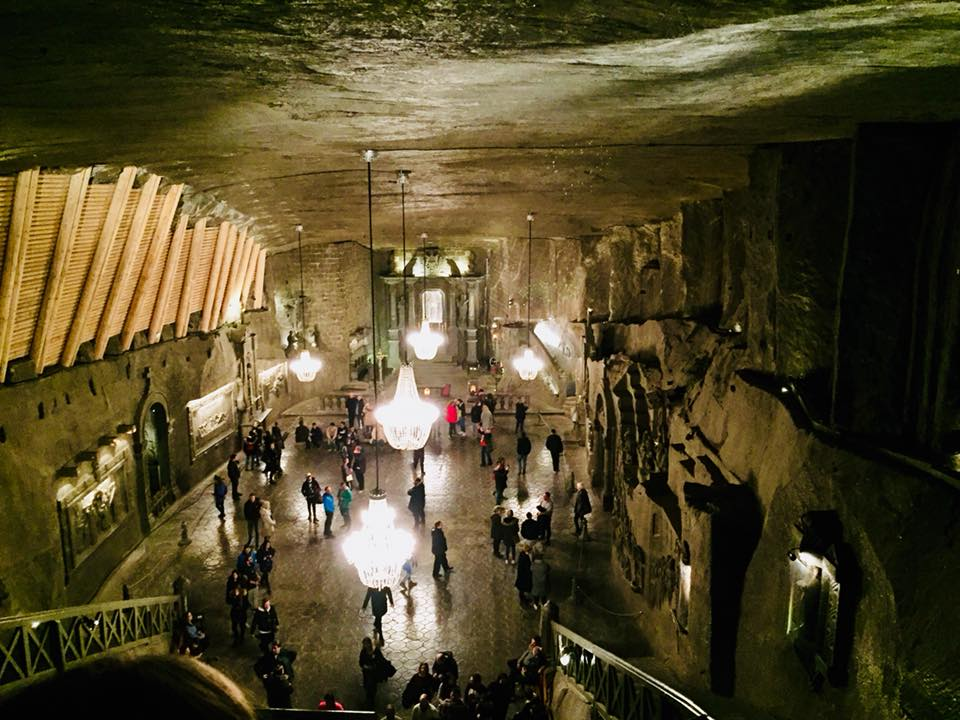 Cathedral built in the mine, 120m underground. Everything you see is made from salt, even the chandeliers!